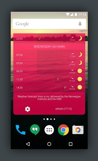 Detailed YR Weather Widget  screenshots 5