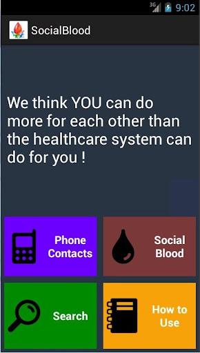 SocialBlood Contacts