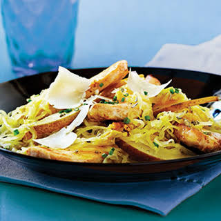 Spaghetti Squash with Chicken, Pears & Parmesan.