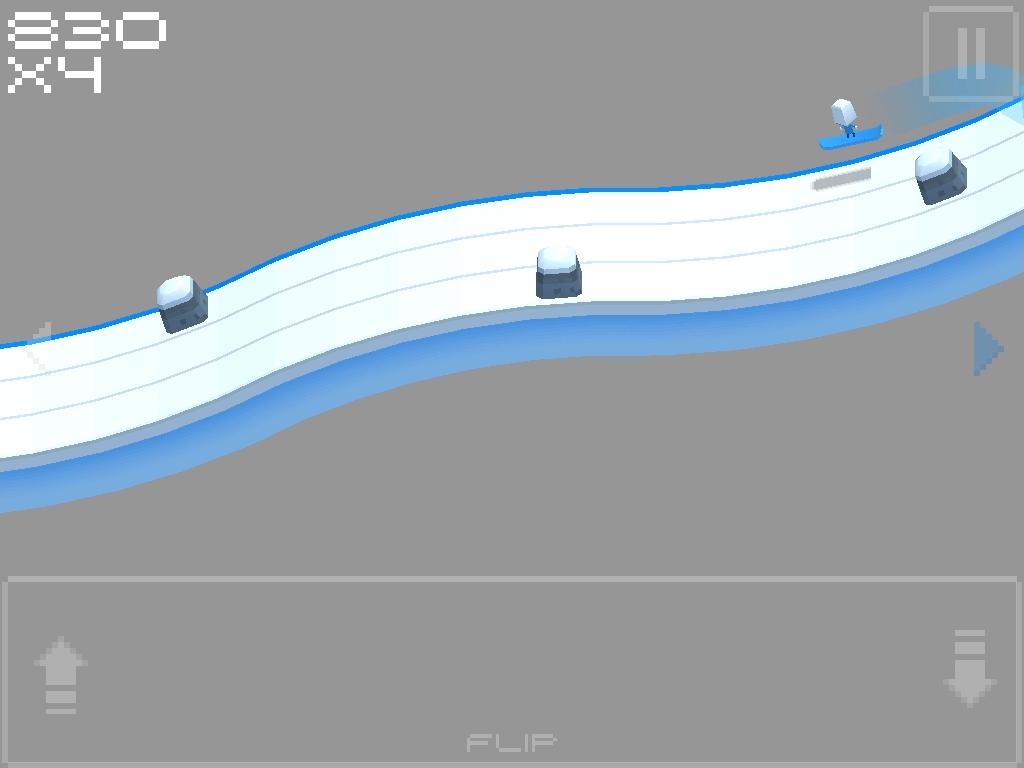 Cubed Snowboarding - screenshot