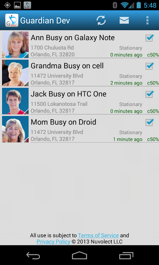 Secure Family Locator- screenshot