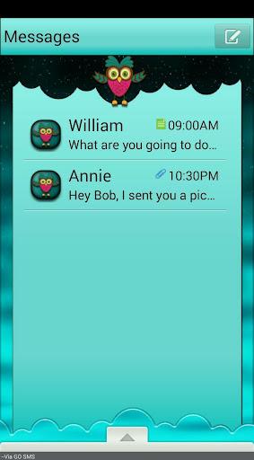 NightOwl GO SMS THEME