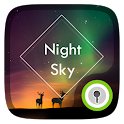 Night Sky Live GO Locker Theme icon