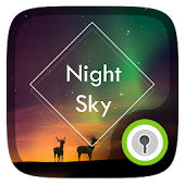 Night Sky Live GO Locker Theme