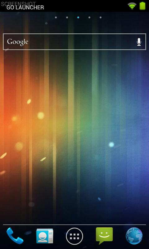 Ice Cream Sandwich (theme) - screenshot