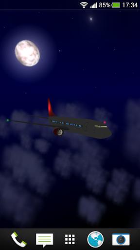 Uçak 3D Canlı Duvar Kağıdı