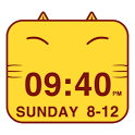 Cute Kitty Cat Clock Widget icon