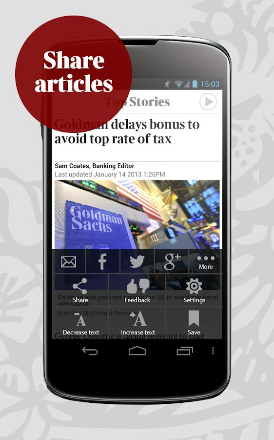 The Times for smartphone - screenshot