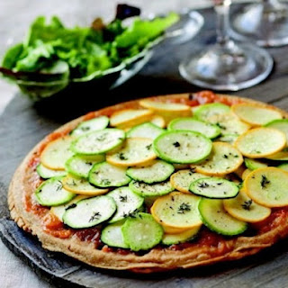 Zucchini and Apricot Socca Tart from 'The French Market Cookbook'