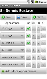 SoftballTracker.com Mobile - screenshot thumbnail