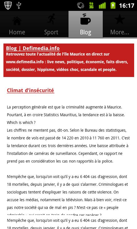 Mauritius Le Defi Media News - screenshot