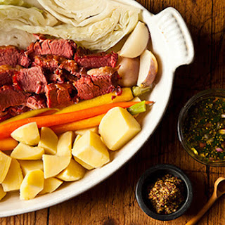 Suzanne Goin's Corned Beef and Cabbage with Parsley-Mustard Sauce