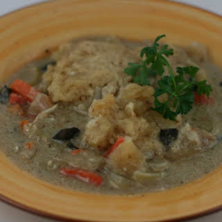 CrockPot Chicken and Dumplings Soup.