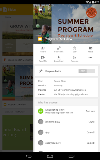Screenshot for Google Slides in United States Play Store