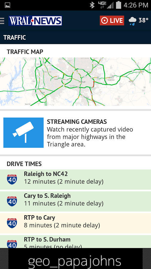 WRAL News App - screenshot