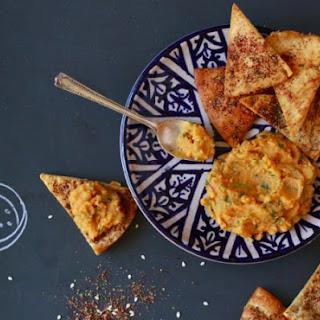 Za'atar-Dusted Pita Chips.