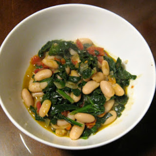 Spanish White Beans with Spinach and Sun-Dried Tomatoes
