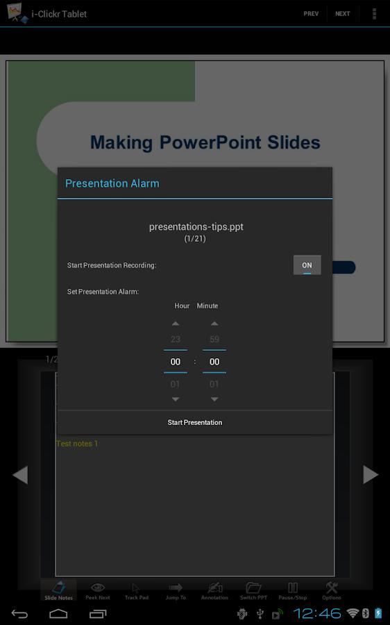i-Clickr (Tablet Edition) - screenshot
