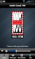 Screenshot of Radio Canal 100