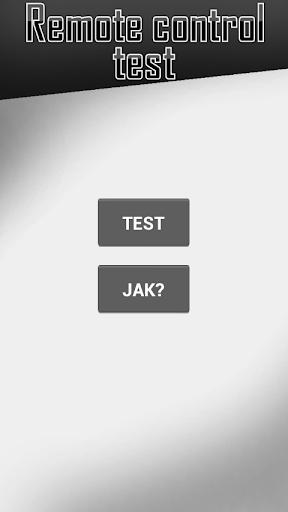 TV remote control test