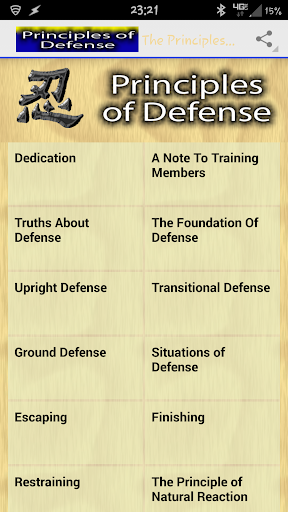 The Principles of Defense