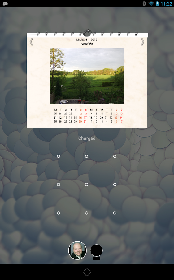 Picture Wall Calendar Widget - screenshot