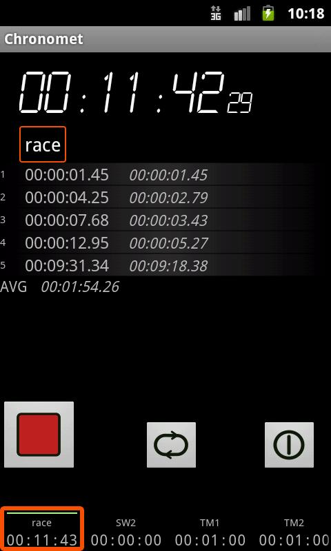 Chronomet timer and stopwatch - screenshot