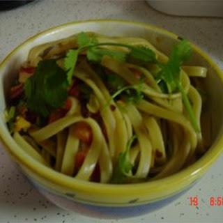 Chinese Cold Pasta Salad.