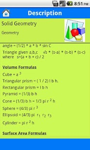 Algebra Geometry Formulas - screenshot thumbnail