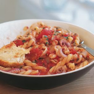 Spicy Tomato and Squid Pasta