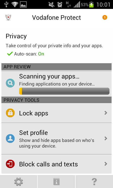 Vodafone Protect - screenshot