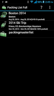 Packing List- screenshot thumbnail