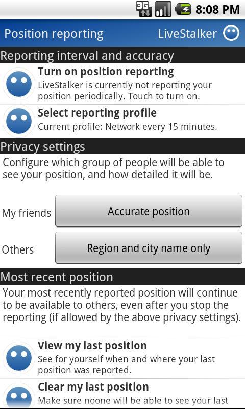 LiveStalker- screenshot