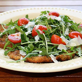 Veal Scallopini with Arugula Salad.