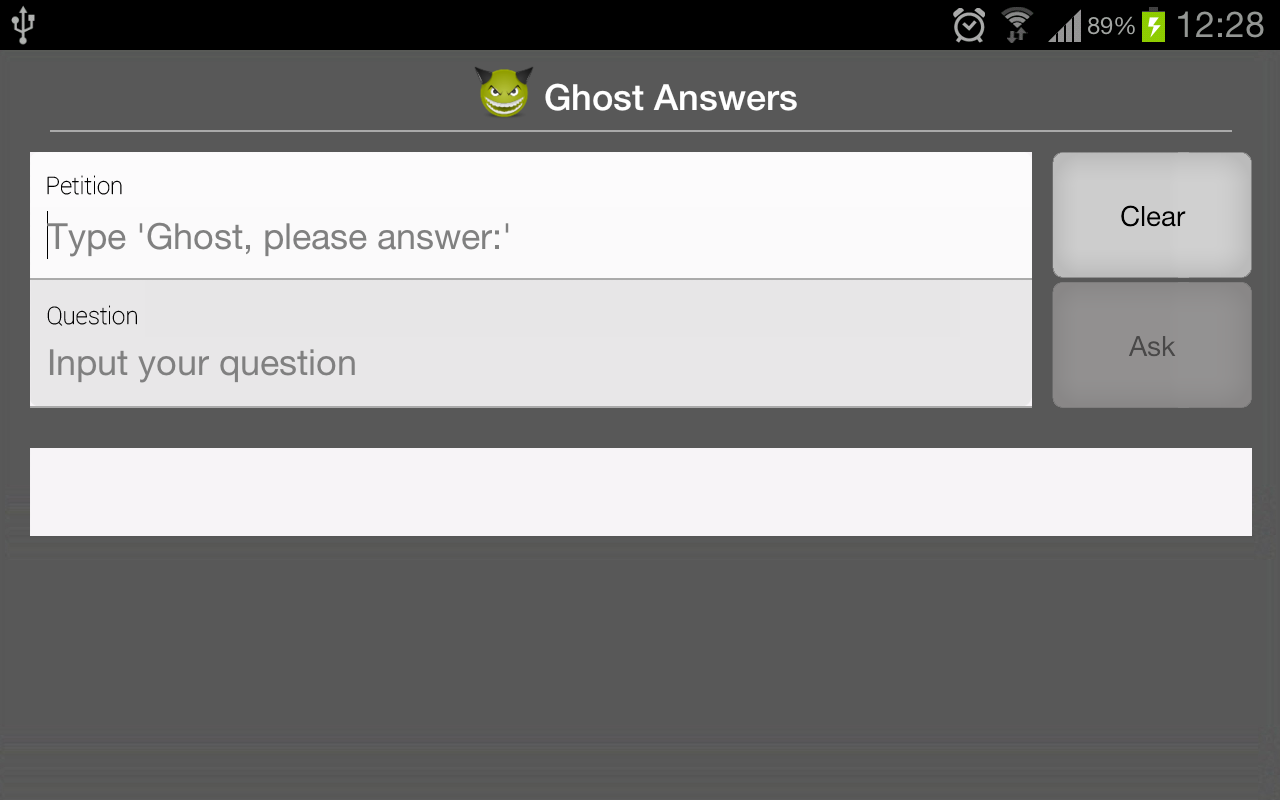 Ghost Answers - screenshot