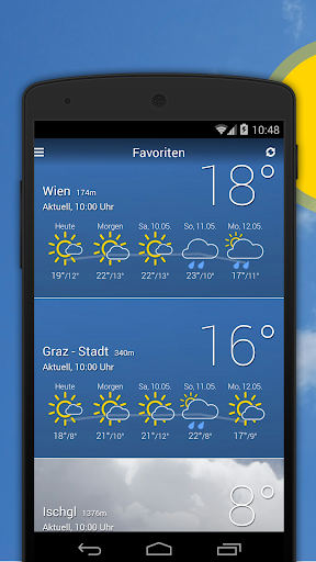 bergfex/Weather App - Forcast Radar Rain & Webcams  screenshots 1
