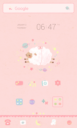 sweet dreaming dodol theme