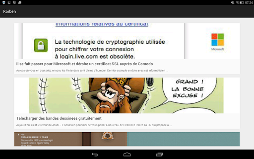 Korben - Les News Programos (APK) nemokamai atsisiųsti Android/PC/Windows screenshot