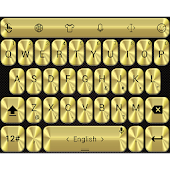 Theme TouchPal Metallic Gold