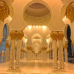 infinit II by Rami Asaad - Buildings & Architecture Places of Worship ( grand mosque, fine art, artistic, abu dhabi, pillars,  )