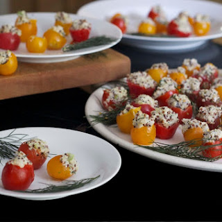 Quinoa and Goat Cheese Stuffed Cherry Tomatoes.