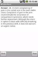 Screenshot of NCLEX-PN Exam Prep by UM