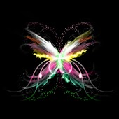 Neon Butterfly theme 480x800