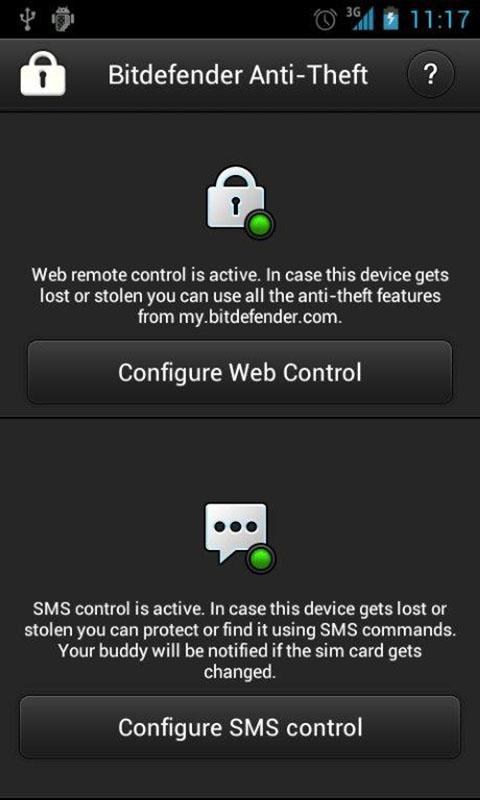 Bitdefender Anti-Theft - screenshot