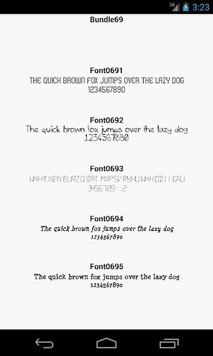 Fonts for FlipFont 69