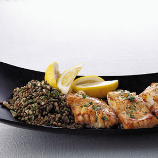 Sauteed Cod with Lentils.