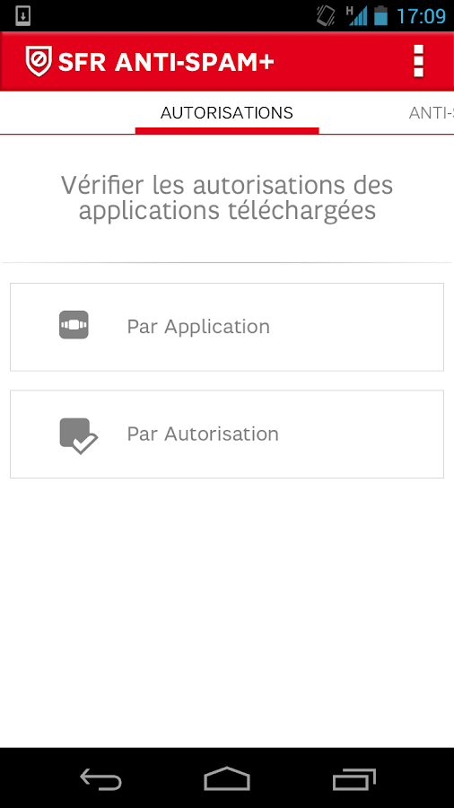 SFR Anti-spam+ (SMS et Appels)- screenshot