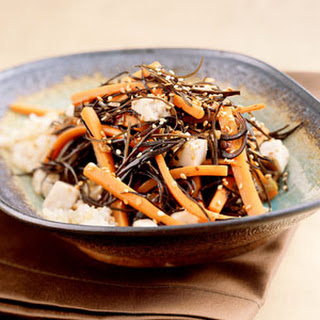 Sautéed Carrots with Seaweed, Ginger, and Tofu.