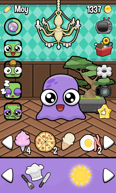 Screenshots of Moy 3 🐙 Virtual Pet Game for iPhone