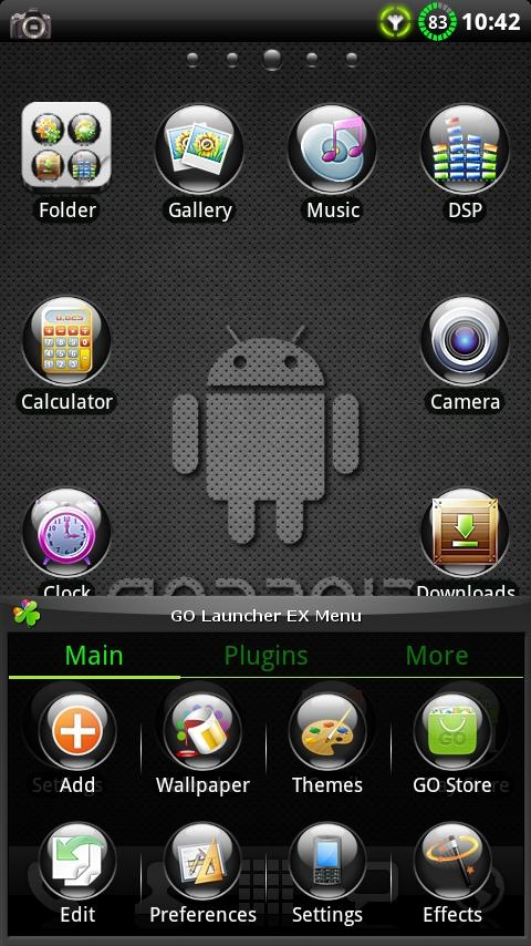 Black Pearl GO Launcher Theme- screenshot